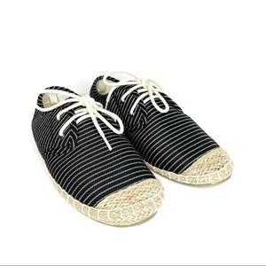OLD NAVY Striped Twill Sneakers Black 5